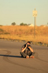 Our Photographer in a Fitting Position