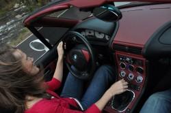 Jenn Driving Colby's M Roadster