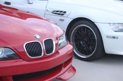 Imola Red and Alpine White M Coupes
