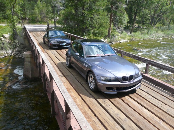 M Coupes on Poudre Canyon Bridge