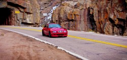 2002 Imola Red BMW M Coupe in Poudre Canyon
