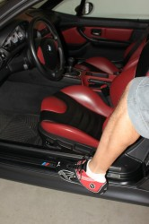 Imola Red and Black Interior with Color Matched Puma Driving Shoes