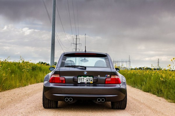2002 BMW M Coupe Steel Gray over Imola Red with BBS RGRs